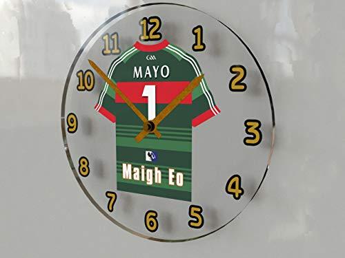MyShirt123 GAA Gaelic Football & Hurling Jersey Wall Clocks - Any Name, Any Number, Any Team - Free Personalisation !!