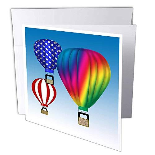 3dRose gc_27421_2 ballonnen met blauwe hemel achtergrond ballonnen 15,2 x 15,2 cm