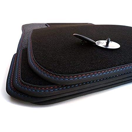 Fußmatten 3er Coupe E92 Velours M Edition Doppelnaht Umrandung Rot Blau Premium Autoteppich 4 Teilig Auto