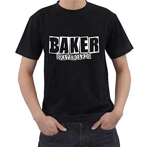 2019 100 & Katoen Nieuwe Baker Skateboards Logo Korte mouw Zwart Heren T-Shirt Maat S - 5XL Zomer Stijl T-shirt