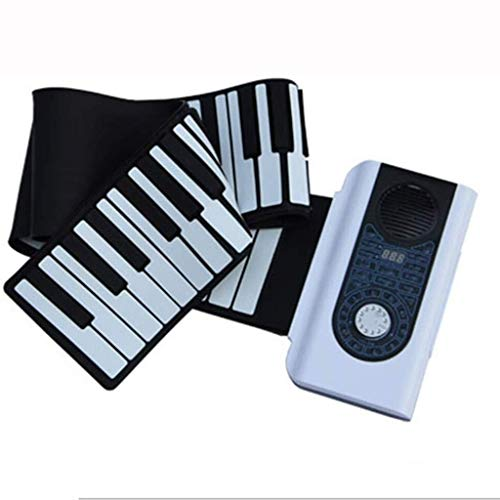 ASDFGH Hand Roll Up Piano Faltbare Smart Keyboard 88 Tasten tragbare elektronische Flexible Piano Silikon-Musikinstrumente for Kinder Adult Toy Piano