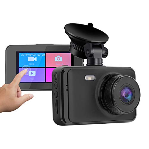Loop Recording ULU Car Dash Cam 1080P Dash Board Camera 3.0 IPS Screen 170 Degree Wide Angle Car Recorder with WDR G-Sensor Motion Detection