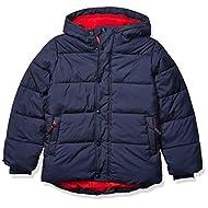 Amazon Essentials Boys' Heavy-Weight Hooded Puffer Jacket Coat