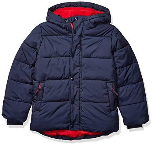 Amazon Essentials Kids Boys Heavy-Weight Hooded Puffer Jackets Coats, Navy, Medium