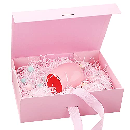 Caja de Regalo,Caja de Regalo Reutilizable,Caja de Regalo Lujo,Cajas de Cartón para Regalo,Caja de Regalo con Tapa,Caja de Regalo con Lazo(Rosado)