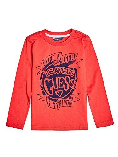 Guess Jeans N63I0500IY3 T-Shirt mit Langen Ärmeln Kinder ROT B518 5A