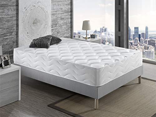 Dagostino Home – Colchón 25 cm, 150x190, Viscoelastico & Latex, Firmeza Alta, Reversible