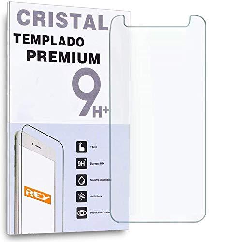 REY Protector de Pantalla Universal 5', Cristal Vidrio Templado 5 Pulgadas Premium