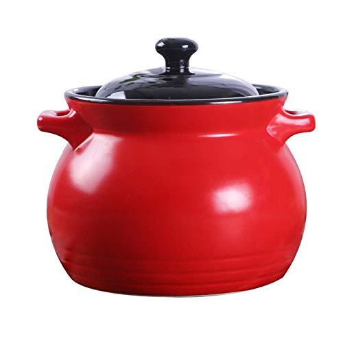 Auflauf Keramik 6000ml Hochtemperaturbeständigkeit Open Fire Suppe Kocher Stone Pot Health Pot