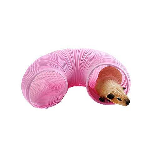Kleintier-Spieltunnel, langlebiger widerstandsfähiger Kunststoff für Meerschweinchen, Chinchillas, Ratten und Zwergkaninchen
