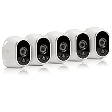 Arlo Certified Refurbished VMS3530-100NAR Security System, 5 Wire-Free HD Cameras, Indoor/Outdoor, Night Vision and works with Alexa