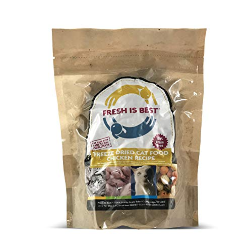 Fresh Is Best Freeze Dried Raw Complete Cat Food, 8 Ounces (Chicken)