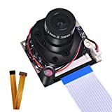 kuman Raspberry Pi 3 B+ Camera Module, 1080p HD 5MP Webcam OV5647 Sensor IR-Cut Kamera Automatic Switching Day/Night Vision Video for Raspberry Pi 3/2/1 Zero W Model B/B+/A+ SC25-1
