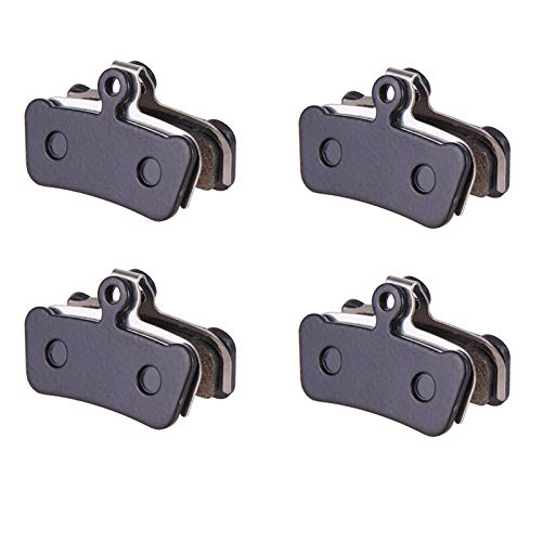 HAIHAOYF MTB 4 pistones Pastillas de Disco Completo metálicos Semi-metálicas for Frenos hidráulicos Pastillas de Freno for la Guía G2 RSC Tire ULT XO Trail E9 E7 (Color : 4 Pairs Black)