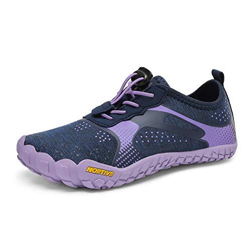 NORTIV 8 Boys Girls Barefoot Lightweight Athletic Water Shoes Dark Blue Purple Size 13 Little Kid Aqua-k1