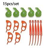 JYYA 15 Sets Orange Pomelo Peel Peeling Herramientas Esenciales Cuchillo para Cortar Pelador removedor Abrebotellas Accesorios de Cocina Gadgets de Cocina, Mostrar