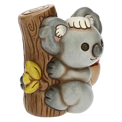 THUN - Soprammobile Koala con Cesto di Cuori - Accessori per la Casa da Collezionare - Linea Sidney in Love - Formato Piccolo - Ceramica - 7,8 x 7,8 x 8,8 h cm