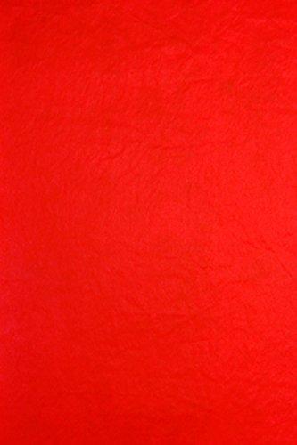 Clairefontaine 393706C Packung (mit 8 Blätter Seidenpapier, 50 x 75 cm, 18 g/qm, ideal für Deko und Bastelprojekte) 8er Pack rot