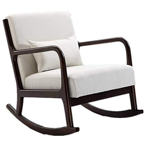 SHUILV Cómoda silla de salón cómoda Relax Rocking Silla Silla de salón con tela de algodón Crema Cojín de tela para el hogar Se relaja y cómoda silla mecedora de relajación (color: múltiples colores d