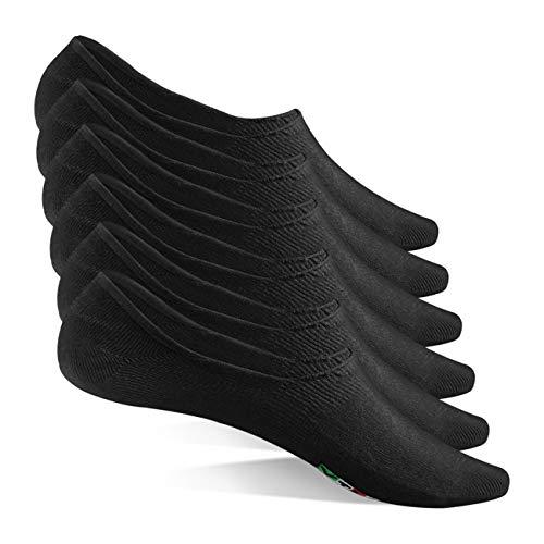 CALZE YTLI Sneaker Socken Herren Damen 6 Paar Füßlinge Unsichtbare Footies Atmungsaktiv Baumwolle Unisex