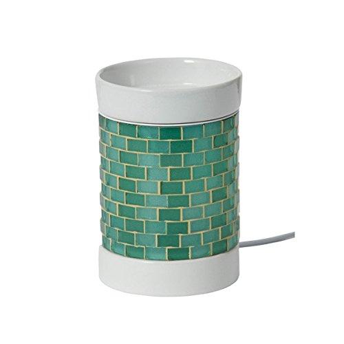 YANKEE CANDLE Glitter Glow Diffuseur électrique, Céramique, Vert/Blanc, 12.5 x 10 x 10 cm