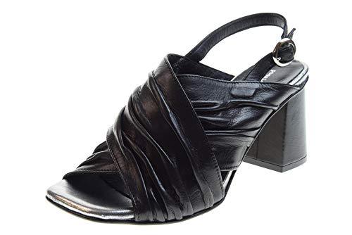 poesie veneziane scarpe POESIE VENEZIANE Scarpe Donna Sandali con Tacco JKA01 Nero Taglia 38 Nero