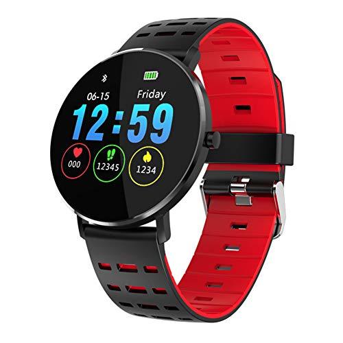 Taurusb Reloj Inteligente rastreador de Ejercicios Impermeable 250mAh batería SmartWatch, Bricolaje Cara del Reloj Inteligente Reloj 30Días Espera IP68 para Mujeres y Hombres para niños,A1