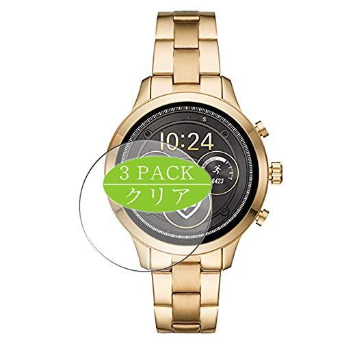 Vaxson - Confezione da 3 pellicole proteggi schermo compatibili con smartwatch Michael Kors MKT5045, pellicola protettiva ultra HD [non vetro temperato] TPU flessibile pellicola protettiva