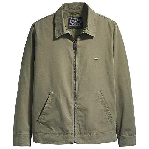 Levi's Haight Harrington Jacket Chaqueta, Green (Olive Night 0001), Large para Hombre
