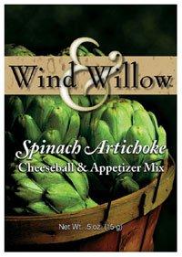 Wind & Willow Spinach Artichoke Cheeseball & Appetizer Mix (Restaurant Spinach Dip)