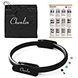 Pilates Ring Magic Circle-14 inch Dual Grip Handles,Yoga Fitness Circle,Exercise Unbreakable Pilates Circle,Body Ring Home Workout for Toning and Fitness Thighs, Abs and Legs