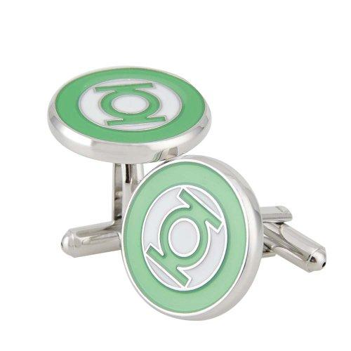 Green Lantern Apollo23 Boutons de manchette Motif Green Lantern Plaqué rhodium