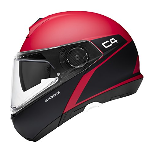 Schuberth–Casco C4Spark, Rojo de Color Negro Mate, 59L