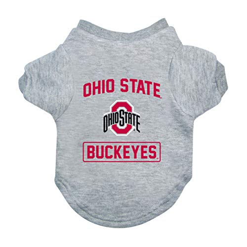 Littlearth NCAA Ohio State Buckeyes Pet T-Shirt, Large