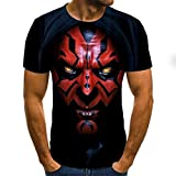 BRQ - Camiseta de hombre con diseño de payaso en 3D y estampado de cara impresa, talla XXS-6X (color: A7, talla XL)