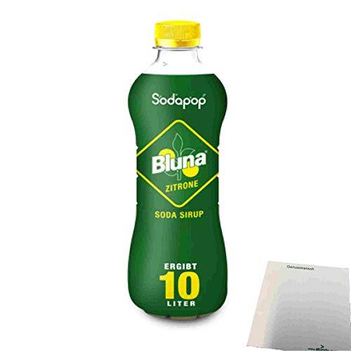 Bluna Zitrone Sirup für Wassersprudler (500ml Flasche) + usy Block