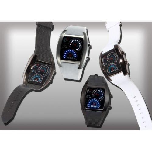 Reloj LED turbo AVIATION - Moda masculina - Blanco