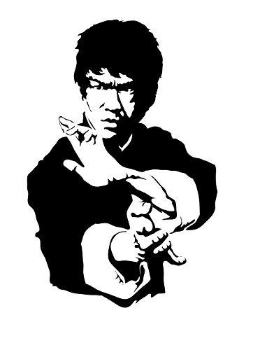 Bruce Lee Karate King Etiqueta de la pared Batman 3D Ordenanza Papel pintado Niños Habitación Regalo Multicolor Bebé Pelar y pegar pared Pegatina 3D Casa Decoración