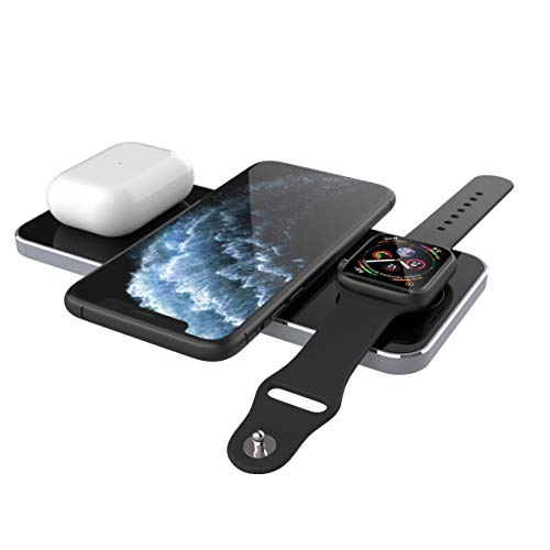 Prestigio Revolt A5 Inalámbrica Estación De Carga Para Los Productos De Apple - 3 En 1 Estación De Carga - Qi Cargador Inalámbrico - Cargador Rápido Wireless