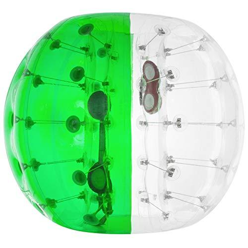 VEVOR 1,2 Meter Aufblasbar Bumper Stoßball, Aufblasbar Bumper Ball durchsichtig 8 kg Gewicht, Bubble Fußball Grün PVC,Bubble Fußball Sommer im Freien Spielzeug Kinder Erwachsenen Keine Pumpe