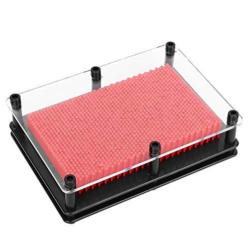 Huakii Lange Lebensdauer hochpräziser Klonstift, leichtes und langlebiges, professionelles, hochwertiges Klonnadelmodell für den Schreibtisch(Medium red)