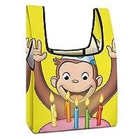 おさるのジョージ.. エコバッグ 携帯に便利 ショッピングバッグ 大容量 折りたたみ エコバッグ 手提げ袋 軽量 洗える コンパクト 買い物バッグ ランチバッグ 男女兼用 トートバッグ コンビニ レジ袋