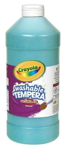 Crayola Tempera Paint, Turquoise, 32 Ounces, Washable Kids Paint