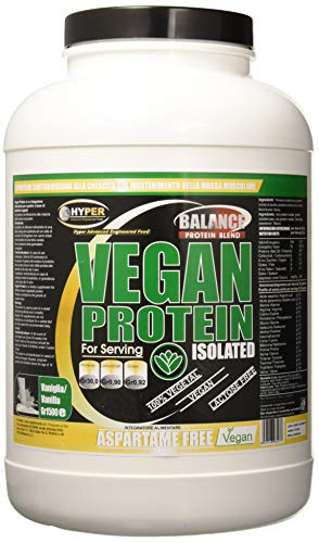 Hyper Vegan Proteine da Fonti Vegetali Rilascio Graduale, Gusto Vaniglia, 1500 gr - 1 Flacone di Proteine