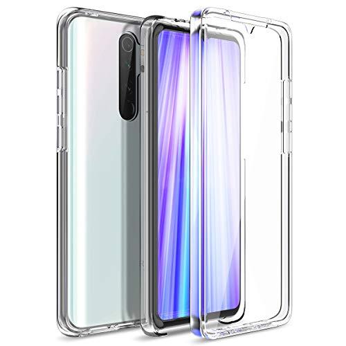 CE-Link Kompatibel mit Xiaomi Redmi Note 8 Pro Hülle 360 Grad Front and Back Full Body Crystal Clear Transparent mit Bildschirmschutz Silikon & PC Ultra Thin Slim Handyhülle Schutzhülle Durchsichtige