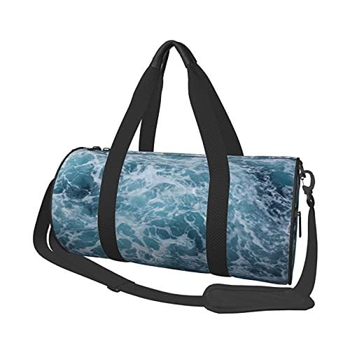 MBNGDDS Ocean Beach - Borsone da viaggio, leggero, pieghevole, impermeabile, con tracolla, borsa sportiva da palestra per uomini e donne, Come mostrato, Taglia unica,