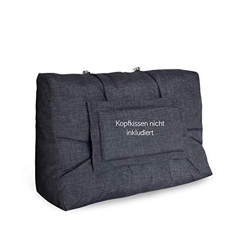 LILENO HOME Palettenkissen Set Anthrazit - Rücken- / Seitenkissen 60x40x10/20 cm - Polster für Europaletten - Palettenkissen Outdoor als Sitzkissen für Palettenmöbel