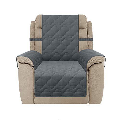 SUNNYTEX Übergroße Liegestuhl-Abdeckung, wasserdicht, groß, rutschfest, Möbelschutz für Haustiere, Kinder und Hunde (Liege (Übergröße), dunkelgrau)