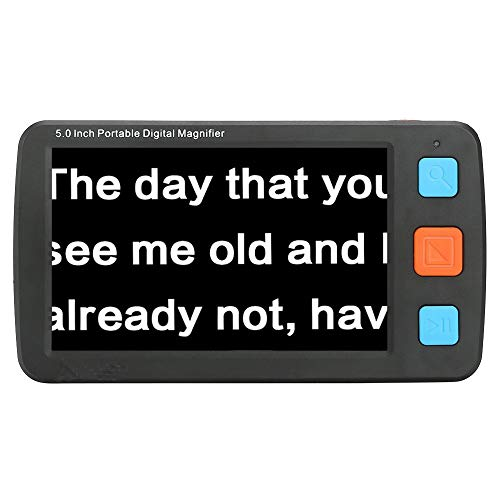 Low Vision Digitale Elektronische Leselupe,Mobile Lesehilfe mit 5 Zoll LCD-Monitor Mehrfachfarbmodus