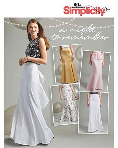 Simplicity 7055.BB - Patrones de Costura para Falda de Mujer (Tallas 44-52)